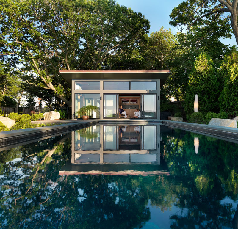 Flavin Architects Design A Poolside Guest House