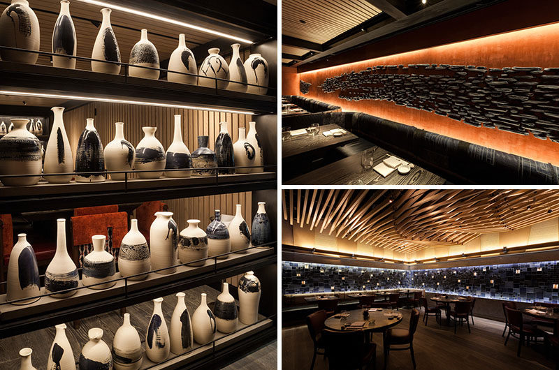 During the design of the new Nobu Downtown restaurant in New York City, Canadian ceramic artist Pascale Girardin, was commissioned to create three art installations that would create a unique look for the restaurant.
