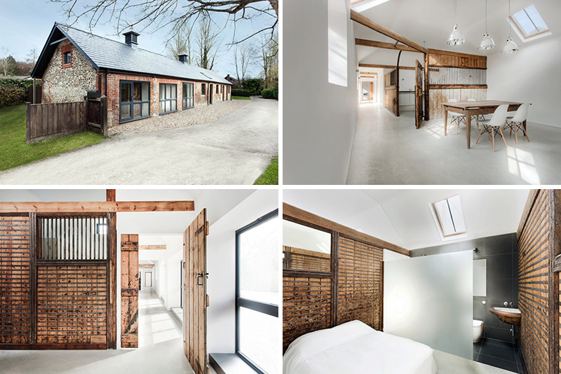 This modern three bedroom family house that has been converted from a historic stable, breathing new life into the English property.