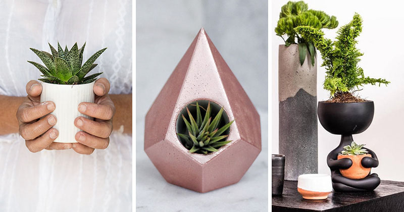These Modern Tabletop Planters Are Fun And Functional Making Them Perfect  For Any Home Decor.