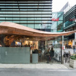 542 Copper Sections Were Used To Create The Curved Roof Of This London Cafe