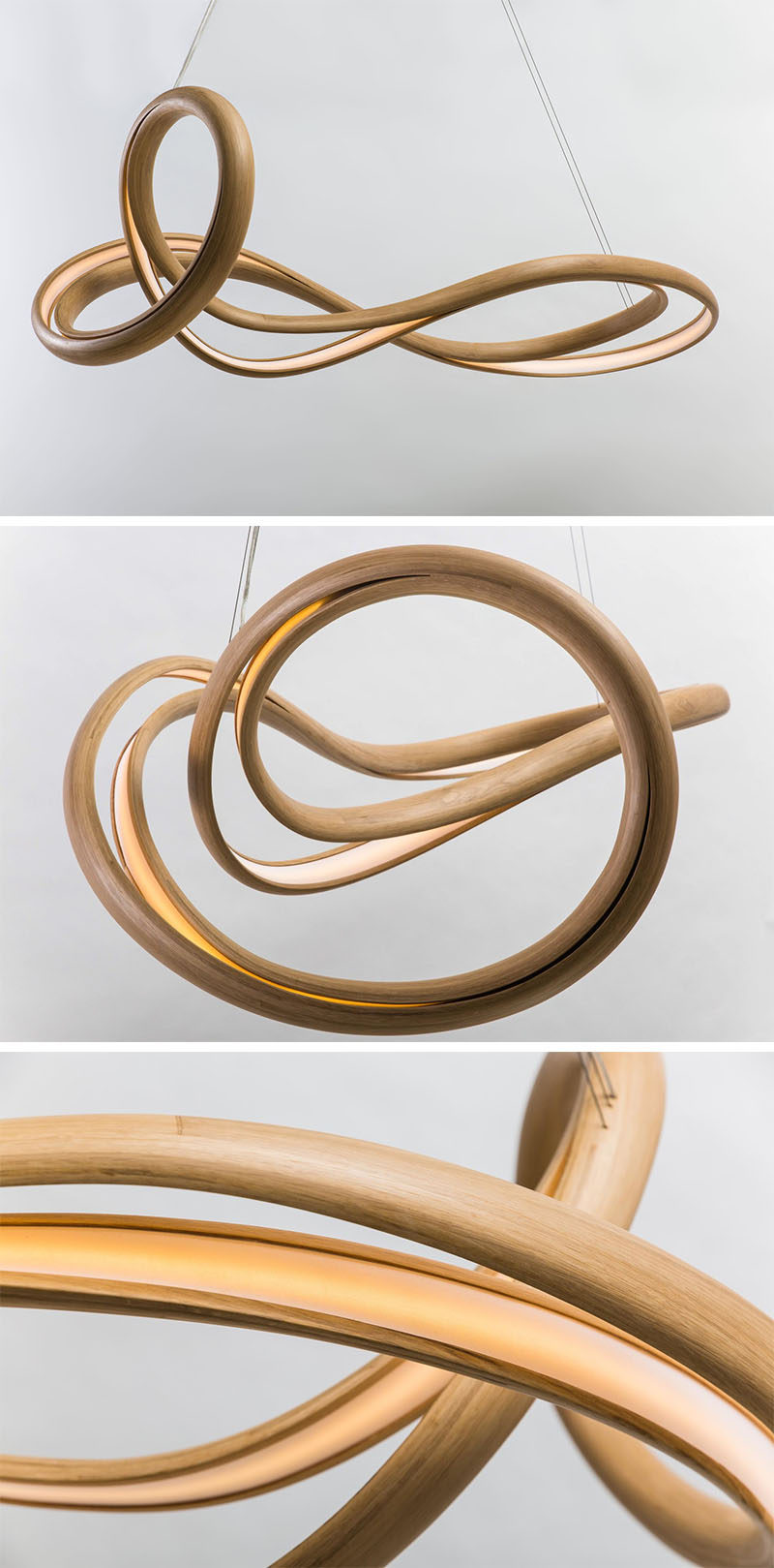 New York based designer John Procario of Procario Design, has combined his love for sculpture and lighting, and transformed it into a series of pieces named Freeform.