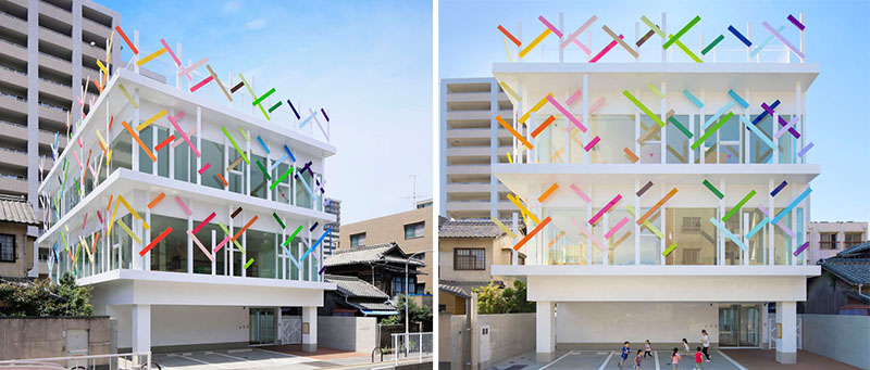 Colorful Quot Branches Quot Cover This New Kindergarten Building