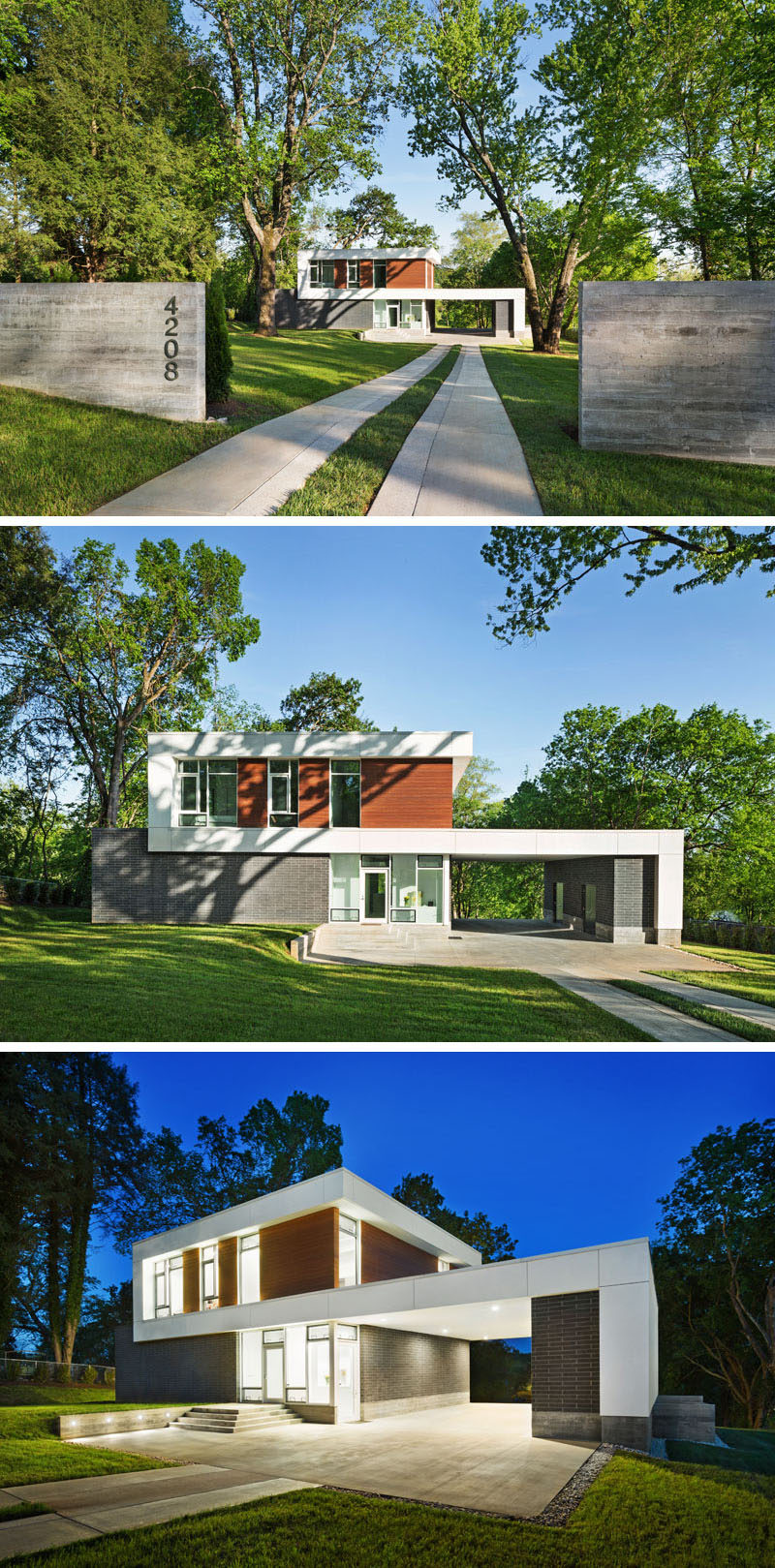Architecture firm BARBERMcMURRY have recently completed a new house in Knoxville, Tennessee, for a young couple, their son and their dog.
