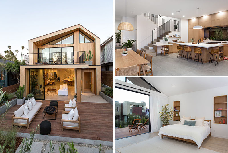Architectural studio Electric Bowery have recently designed and built a new house in Venice Beach, California, that takes inspiration from mid-century Scandinavian design as well as the surrounding architecture of neighboring homes.