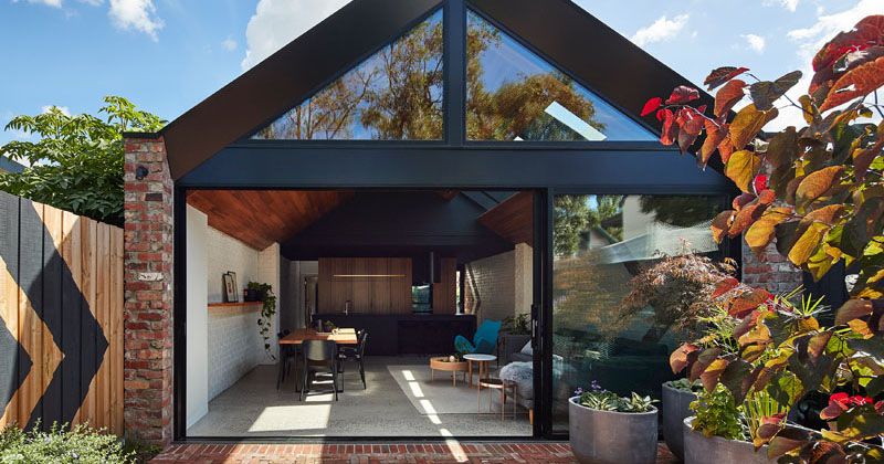"This former ""workers cottage"" was transformed into an updated livable space"
