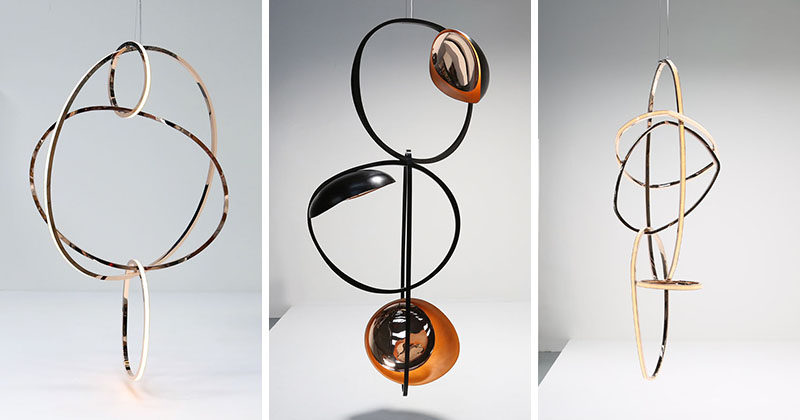Irish artist Niamh Barry has designed a collection of unique, limited edition light sculptures that play with shapes from her studio in Dublin.