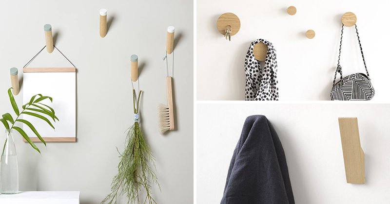 Simple wall hooks are a great way to decorate your walls while being functional at the same time. Here's a look at 10 wall hook ideas that would suit any modern interior.
