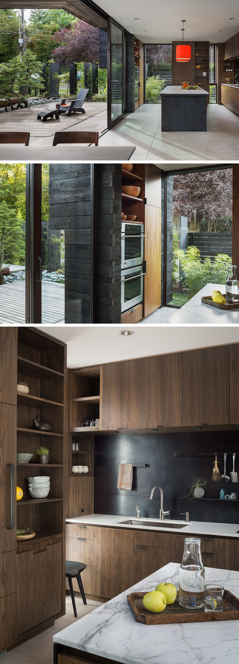 The Glass Walls Of This Modern House Provide An Abundance Of Natural Light The  Kitchen Thatu0027s