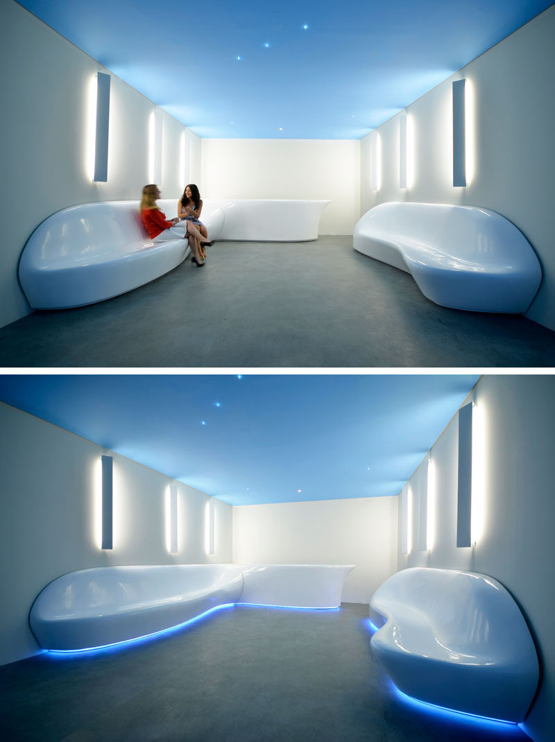 Subdv Creates Sculptural Seating For An Office Reception Area