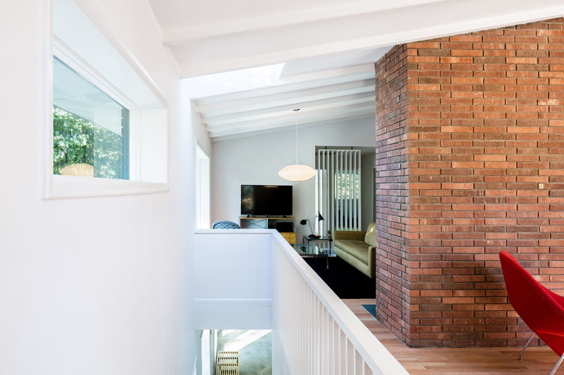 White walls keep this updated interior bright and airy.