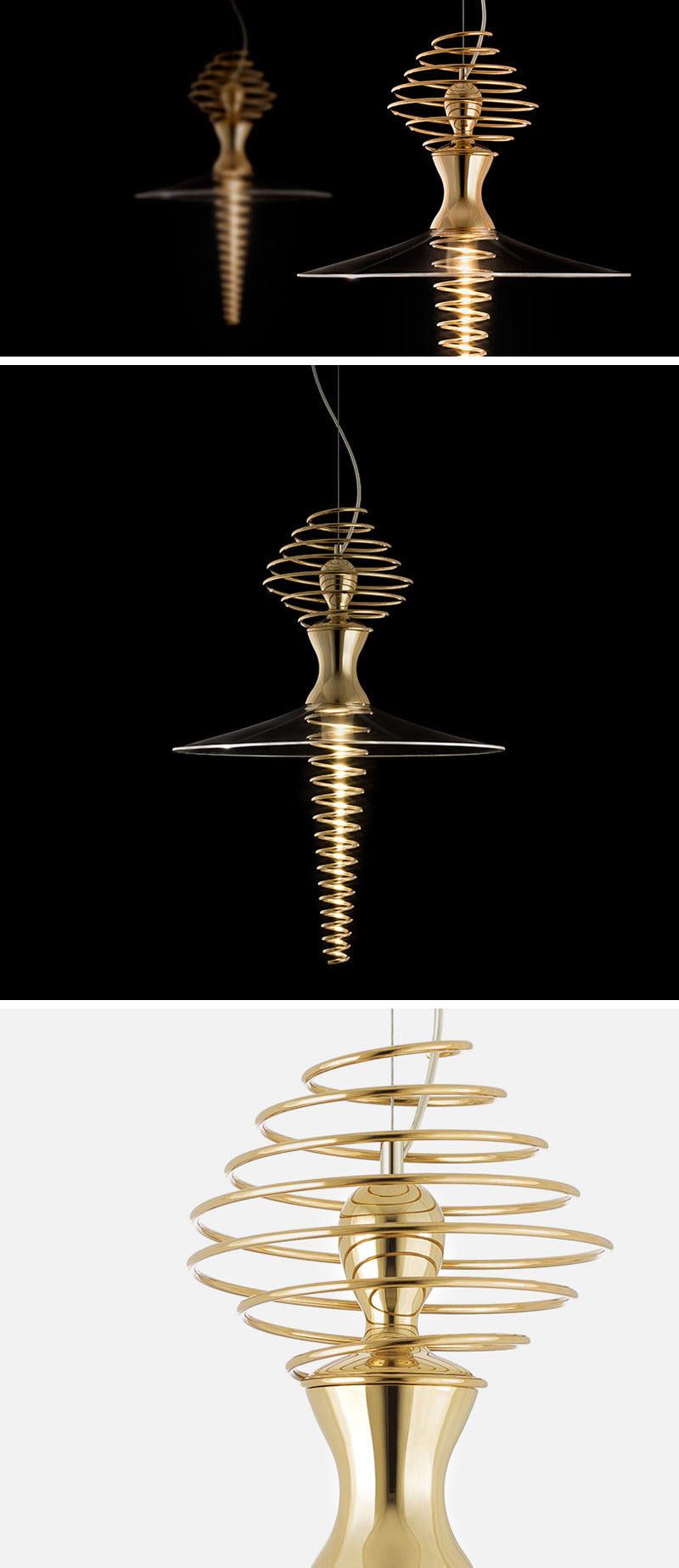 The Mia Ballerina pendant lamp was inspired by the shape of a ballerina when she spins. #ModernLighting #Modern #Lighting #PendantLight #Design