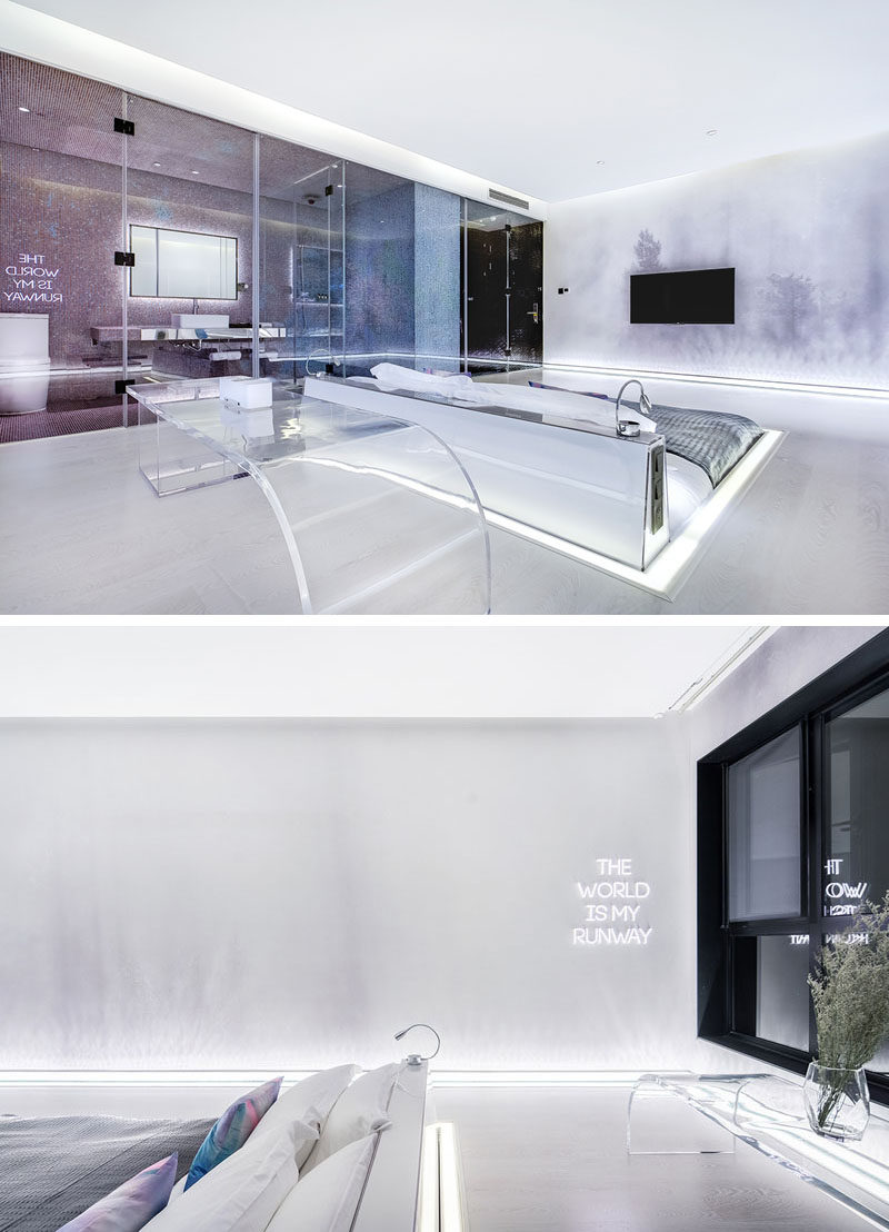 Hotel Room Designs: This Hotel Room Was Designed To Have The Bed Sunken Into