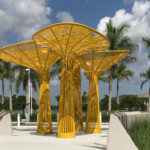 This Yellow Tree-Like Sculpture Brings Color To A Plaza In Florida