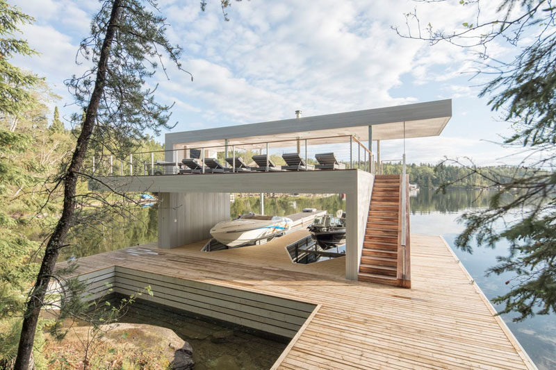 Cibinel Architecture Have Designed A Modern Boathouse With