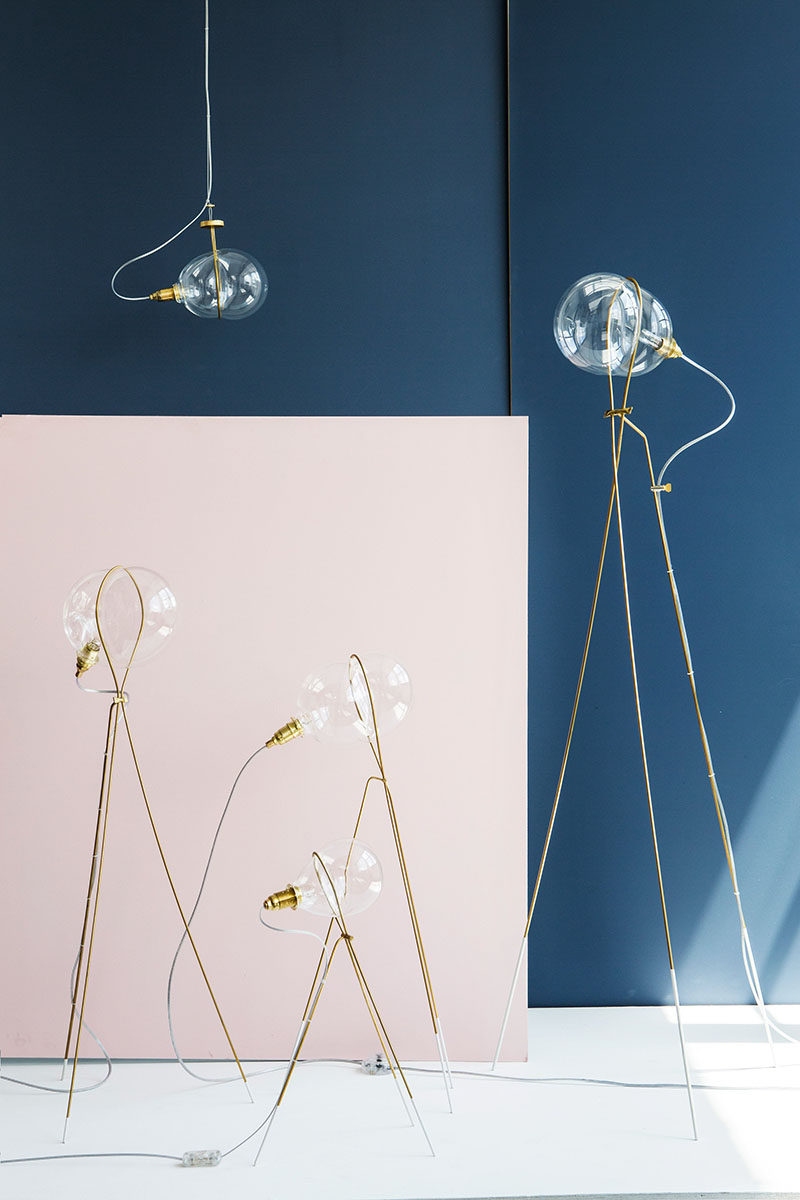 Israeli designer Ohad Benit has created the Stress lighting collection that takes inspiration from the shape of a bubble being blown through a ring.