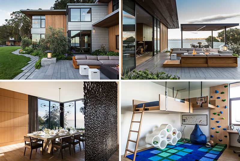 Walker Warner Architects have designed a new modern house on the Tiburon Peninsula, California, that has expansive views of San Francisco Bay.