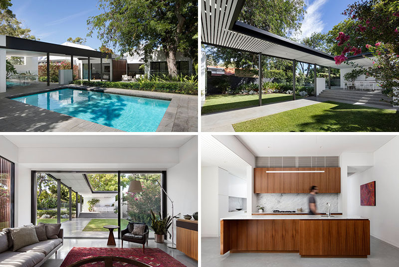 David Barr Architects have recently completed a new modern extension and backyard for a pre-war suburban house, located in Claremont, Western Australia.