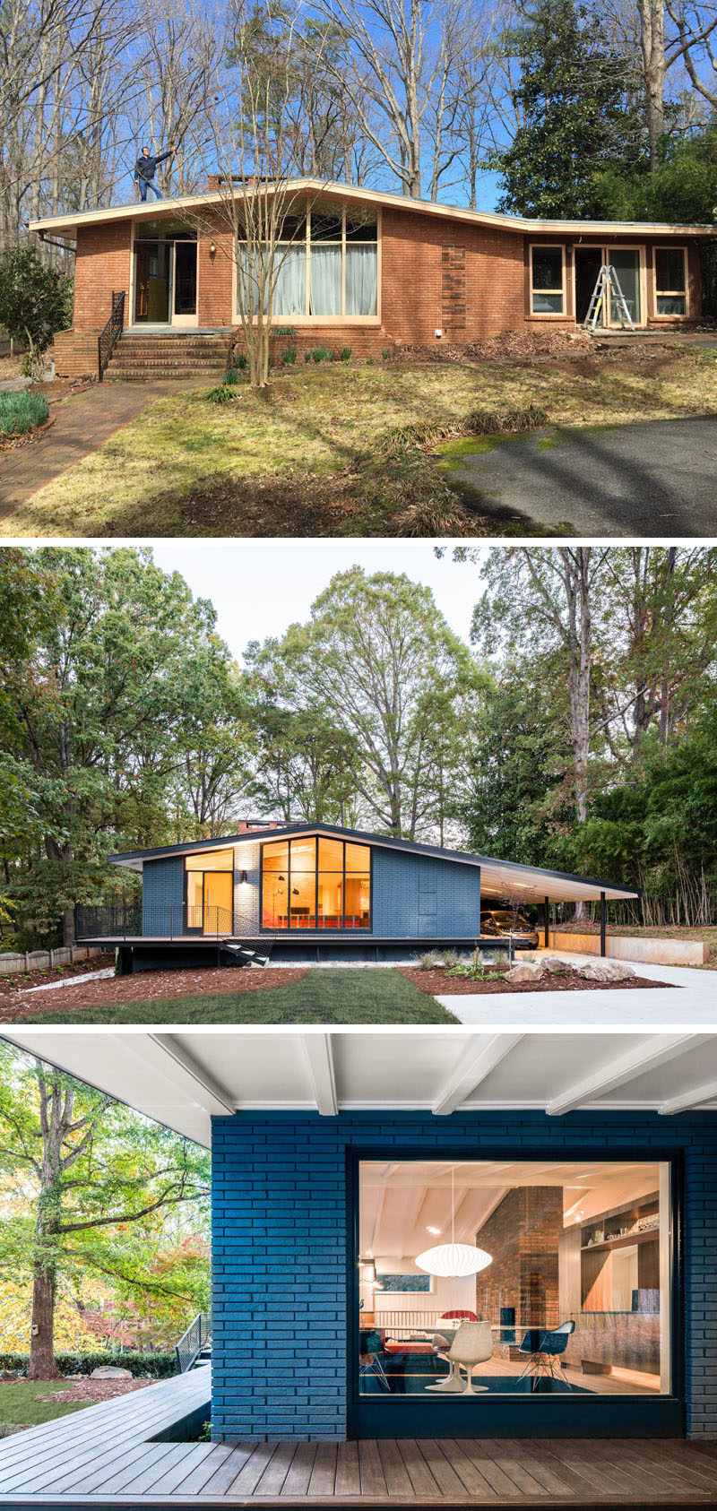 Modern House Exterior: This Mid-Century Modern House In North Carolina Received A
