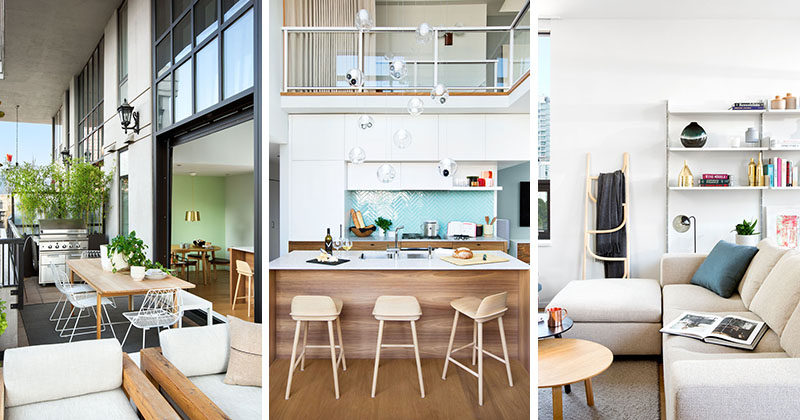 Interior design firm Falken Reynolds have completed design of a modern loft in Vancouver, for a couple that split their time between the Canadian city and New York.