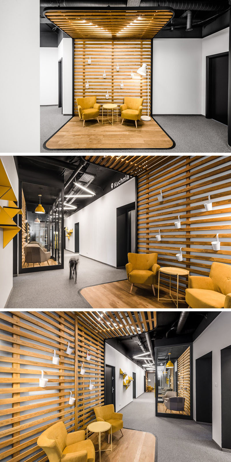 modern office reception interiors this new office interior uses wood and black frames to 938