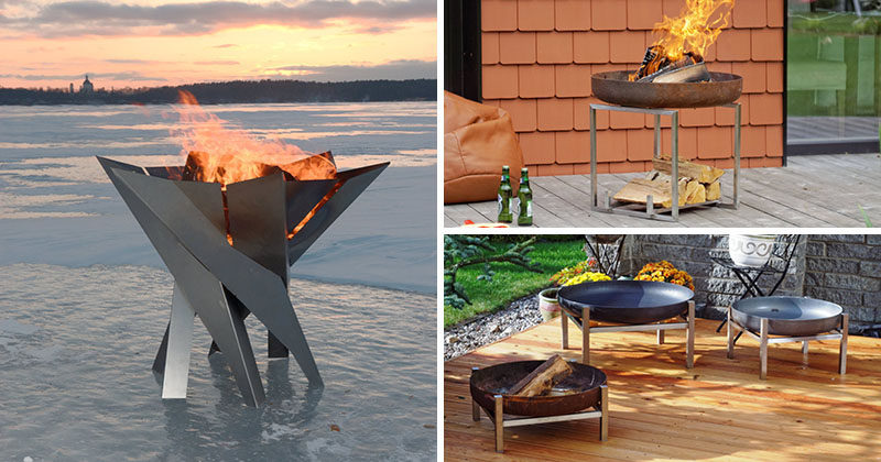 London Based Design Firm Arpe Studio Has Created A Collection Of Modern Outdoor Fire