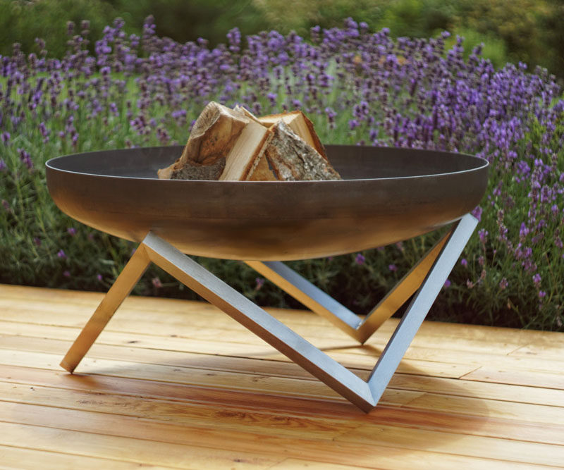 London-based design firm Arpe Studio, has created a collection of modern outdoor fire pits made from steel, that are inspired by Nordic design.