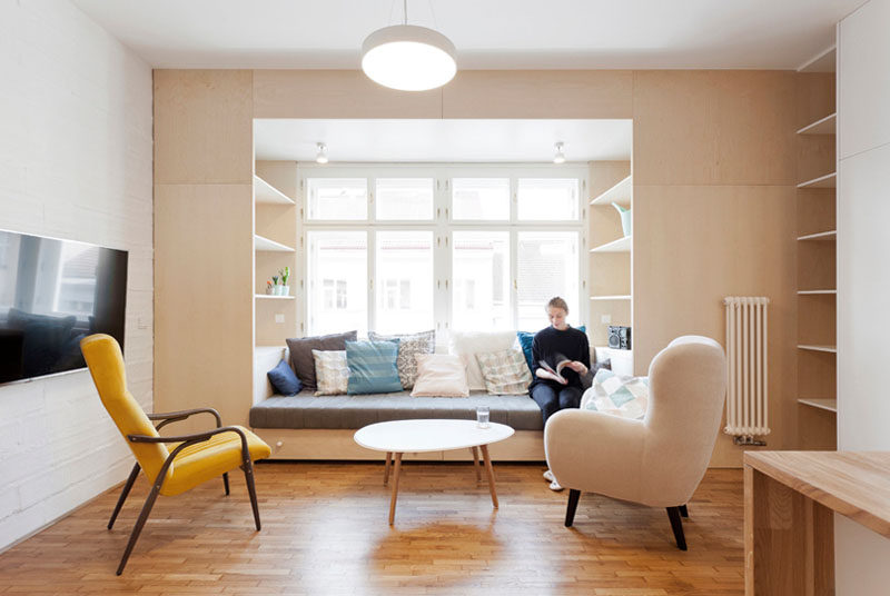 The Interior Designers Of This Apartment Included A Built