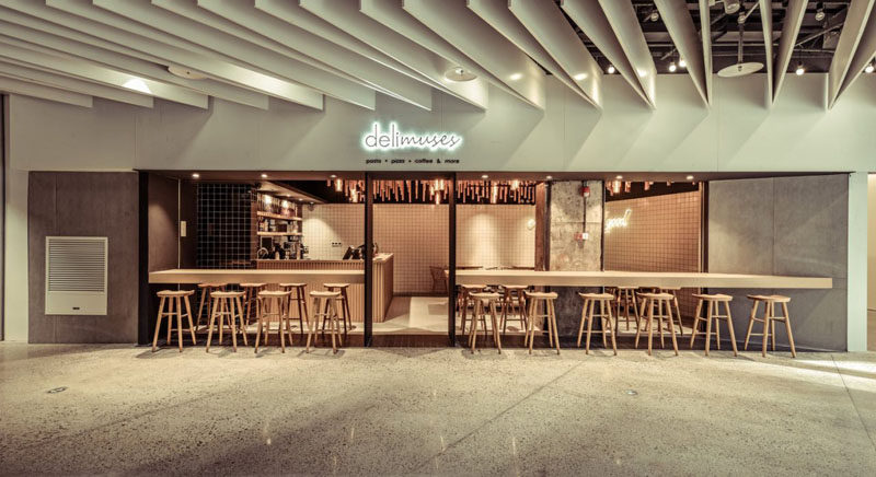 Architecture and interior design studio SPACEMEN, have recently completed a new modern coffee shop in Shanghai, China, named Delimuses.