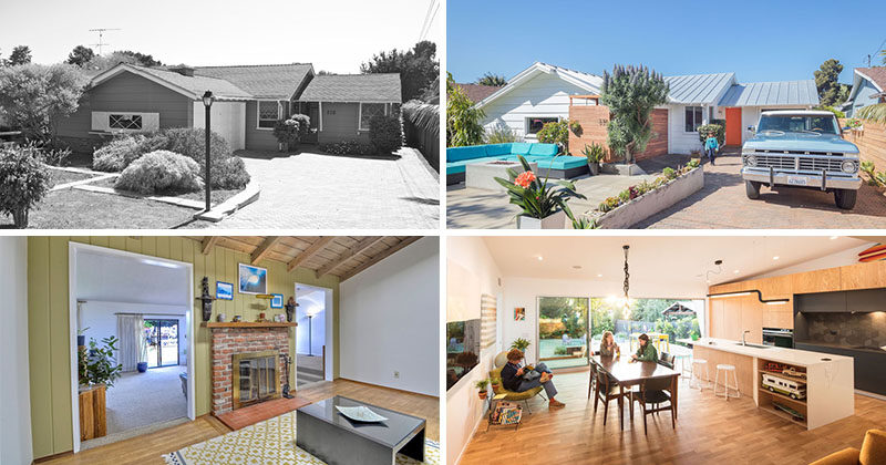 Surfside Projects has recently completed the modern renovation of a 1957 coastal rancher home in Leucadia, California, and transformed it into a fun, bright and friendly house.