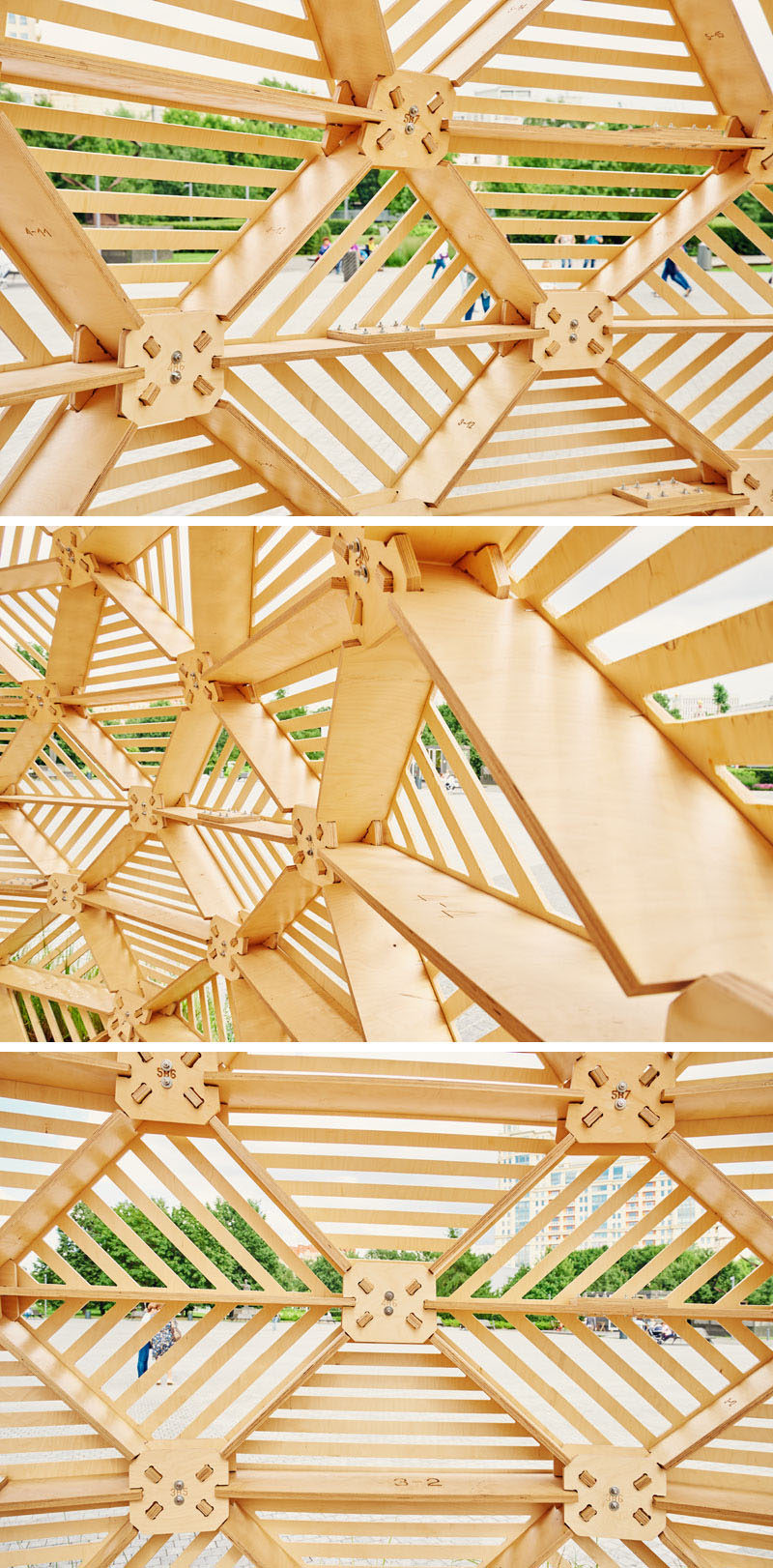 Russian designer Vlad Kissel, has created a modern wood pavilion in Moscow, Russia, that has a drop-like shape that references early Slavonic aesthetics.