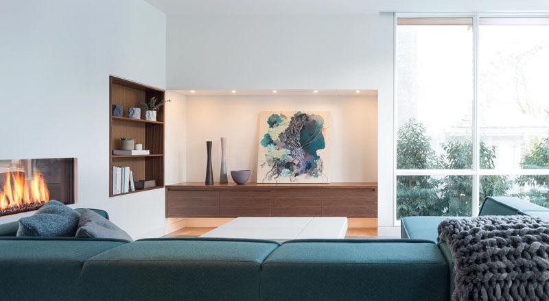 Wood Shelves For Living Room Modern