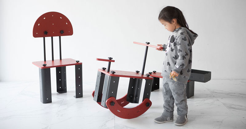 G280 Studio have created TONITURE, a children's furniture line designed to spark a child's imagination as they build the pieces themselves. #KidsFurniture #Furniture #Design #ChildrensFurniture