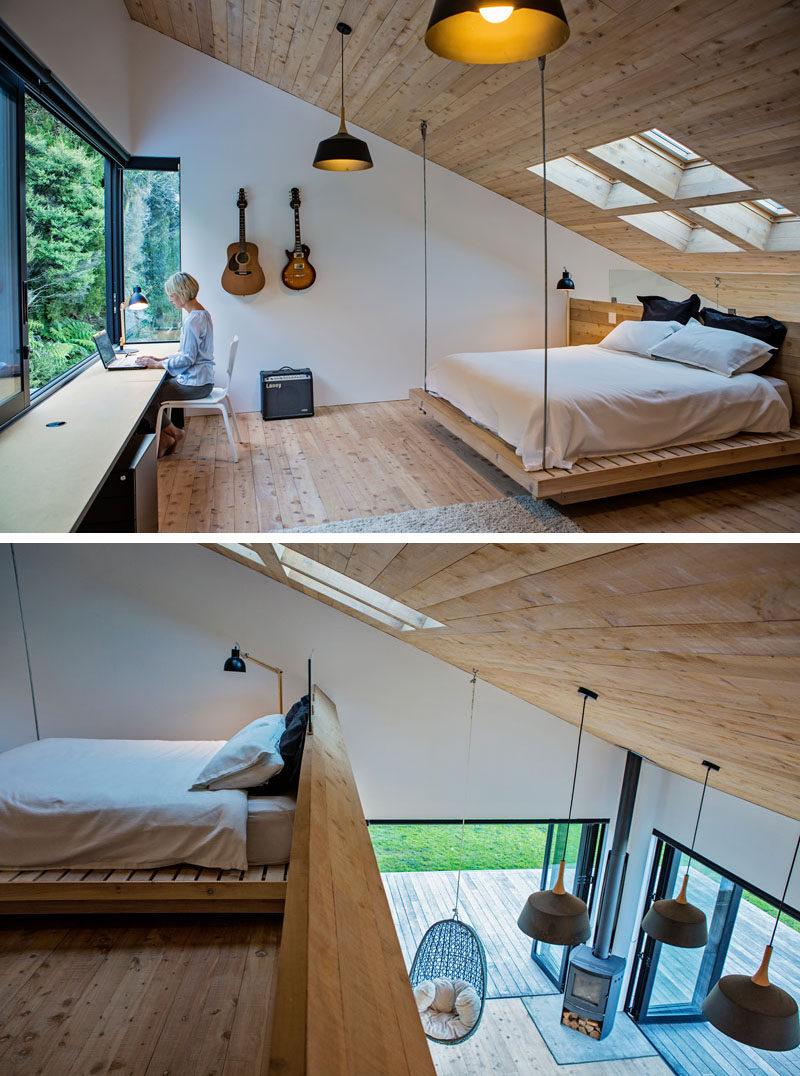 This Small House Sits On A Hillside In New Zealand