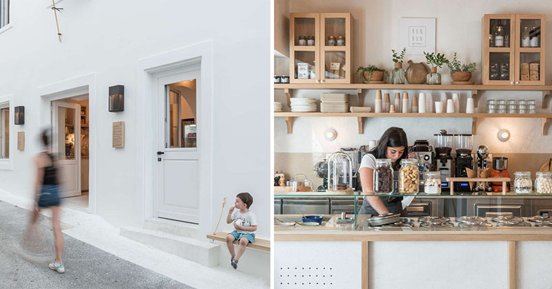 An 1860s Building Was Transformed Into A Contemporary Cafe