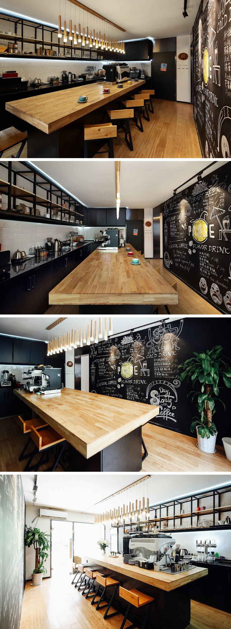 This New Coffee Shop Was Inserted In An Older Apartment