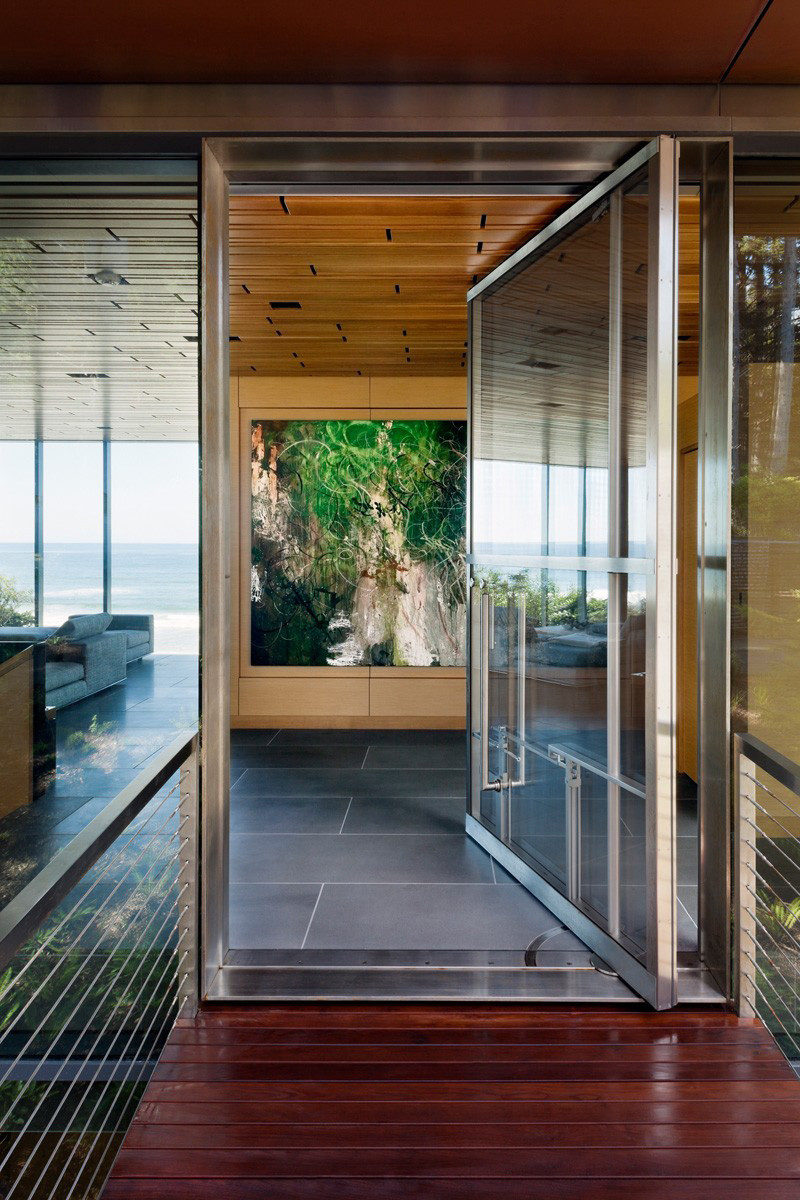 11 Pivoting Glass Doors That Make A Statement And Let