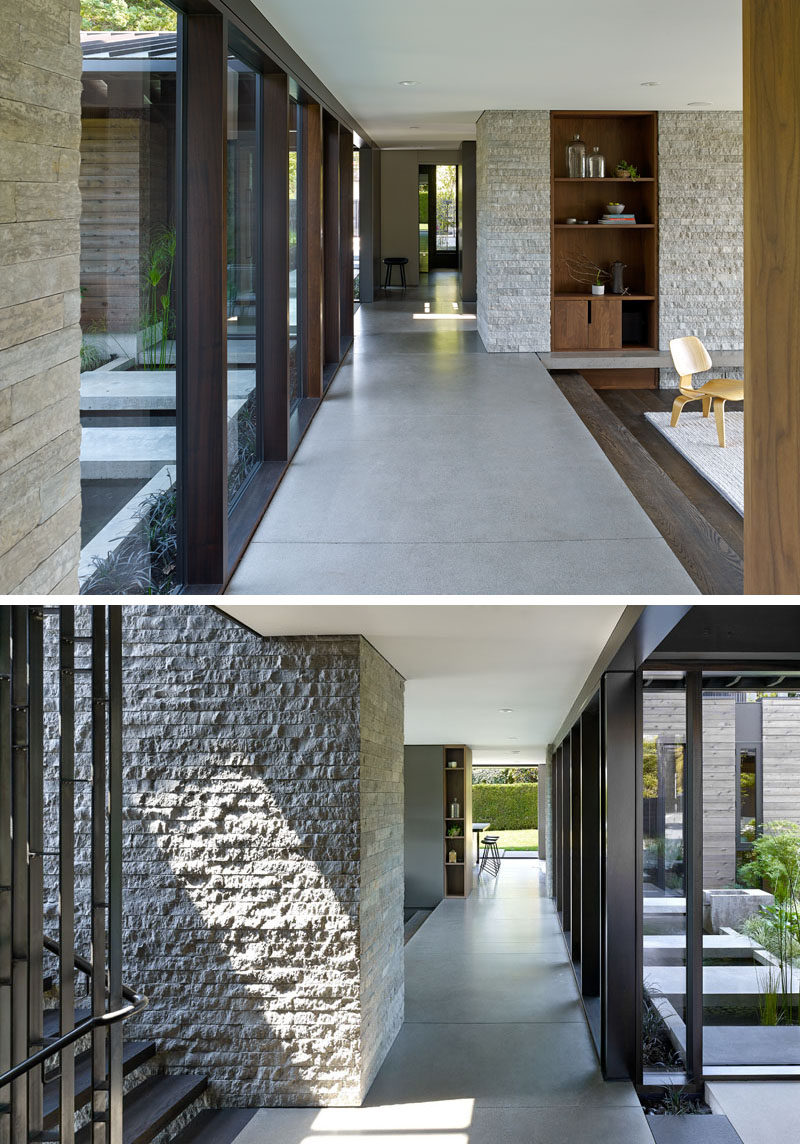 This renovated modern house has heated concrete floors. #ConcreteFloors #Windows #Flooring