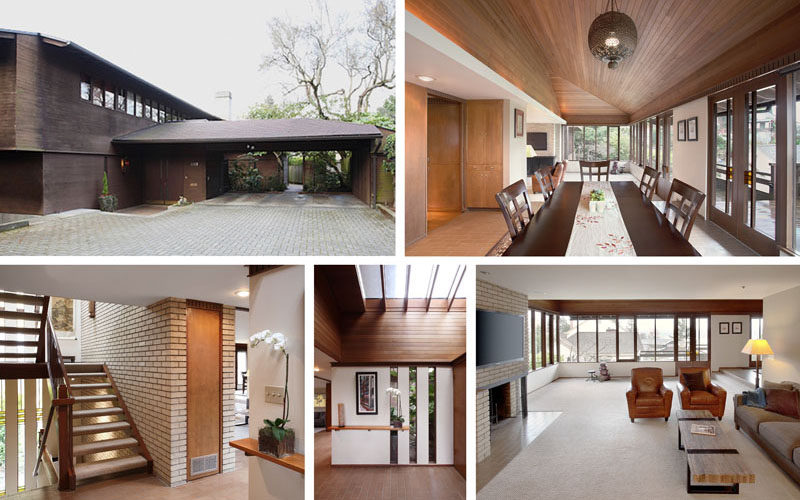 Before Photos - The interiors of this modern house that dates back to 1961 were renovated to include an open and welcoming floorplan. #Architecture #InteriorDesign #Renovation
