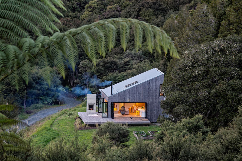 This New Rural House Sits On A Hillside In New Zealand Surrounded By
