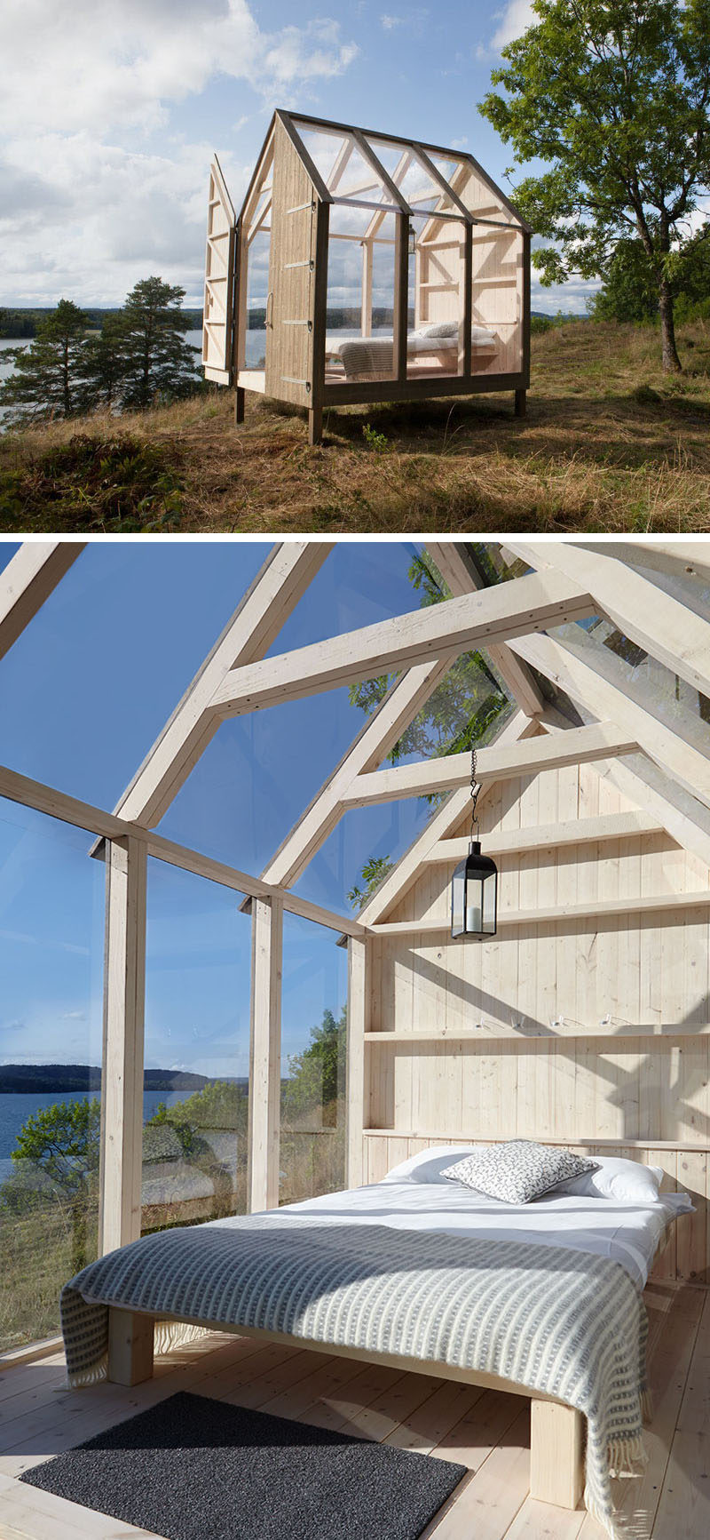 "As part of a new case-study that will investigate the effects on health of living in Swedish nature, ""The 72 Hour Cabin"" will launching on October 10th and five people with some of the most stressful jobs around the world will experience a 'close to nature' lifestyle that involves them staying in a little cabin for three days. #Cabin #Architecture #Design"