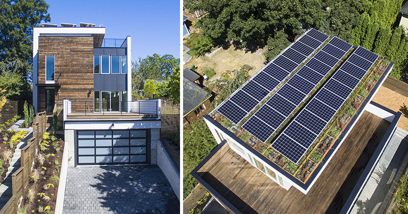 Solar Panels And A Green Roof Were Included On Top Of This New ...