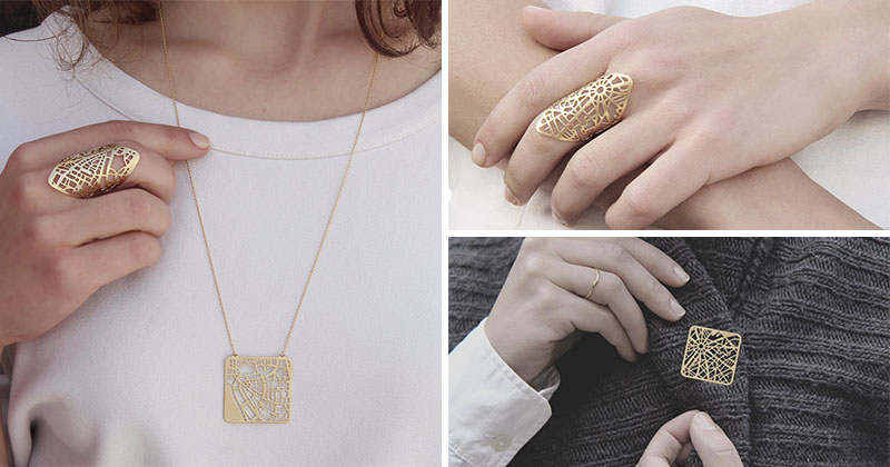 This Designer Creates Unique Jewelry From City Maps