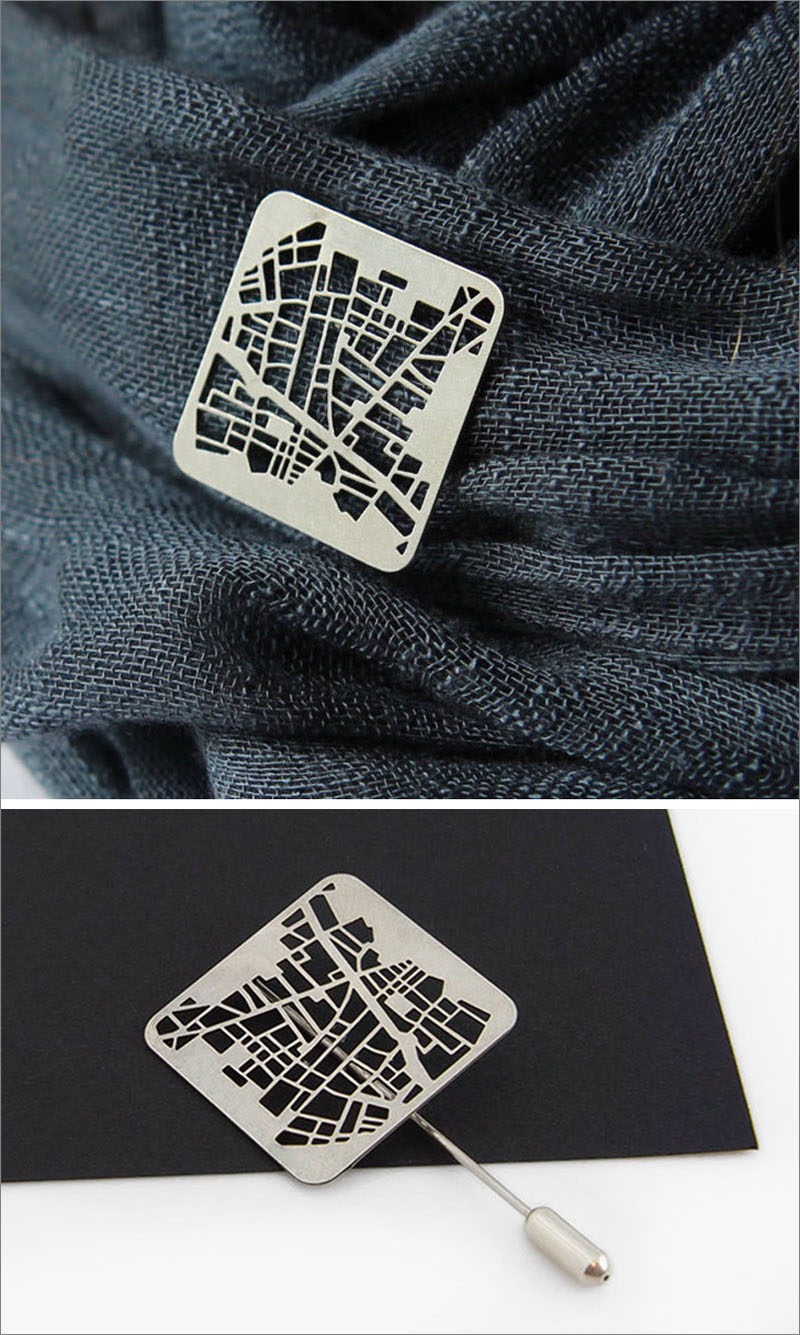 This Designer Creates Unique Jewelry From City Maps