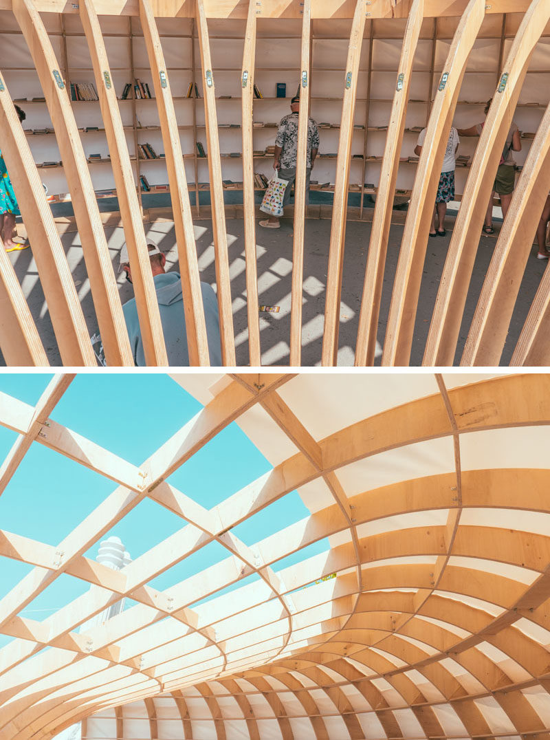 """Rapana"" is the first street library in Varna, Bulgaria created by a team of young architects and designers. #Library #StreetLibrary #Design #Architecture"