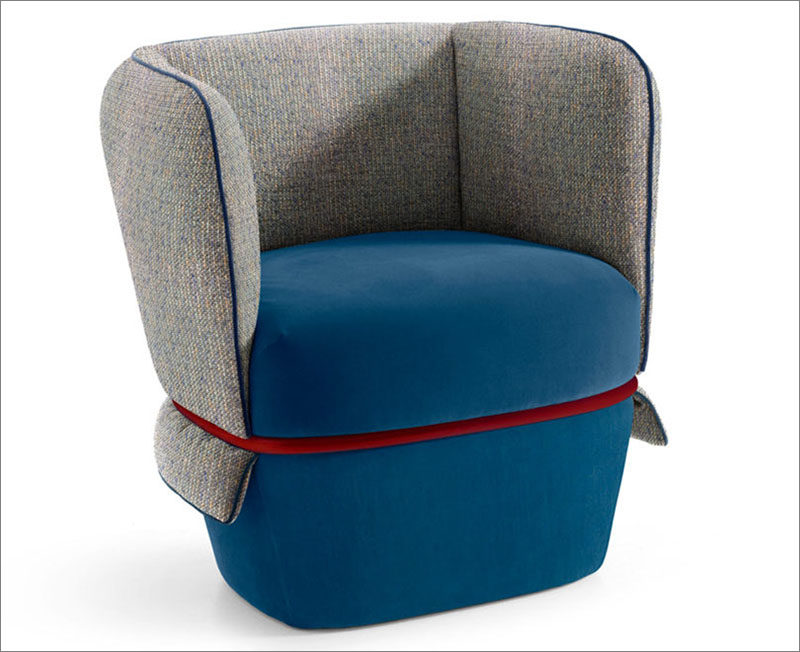 Studio li-do have designed a new upholstered armchair named 'Chemise', for manufacturer My Home Collection. #Armchair #UpholsteredChair #ModernArmchair