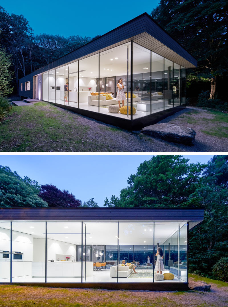 This House Has One End Surrounded By Glass On Three Sides ... on Modern Glass House  id=19037