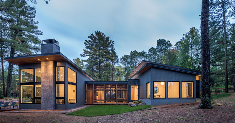Northern Minnesota Lake House By Strand Design Contemporist