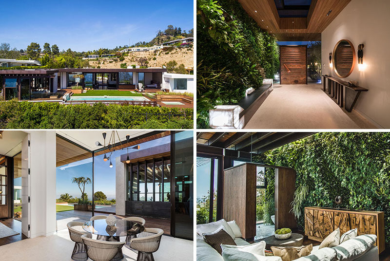 Californian architectural and design firm Mayes Office, have recently completed a new and modern house that's located at the top of Beverly Hills. #ModernHouse #ModernArchitecture #GreenWalls #InteriorDesign