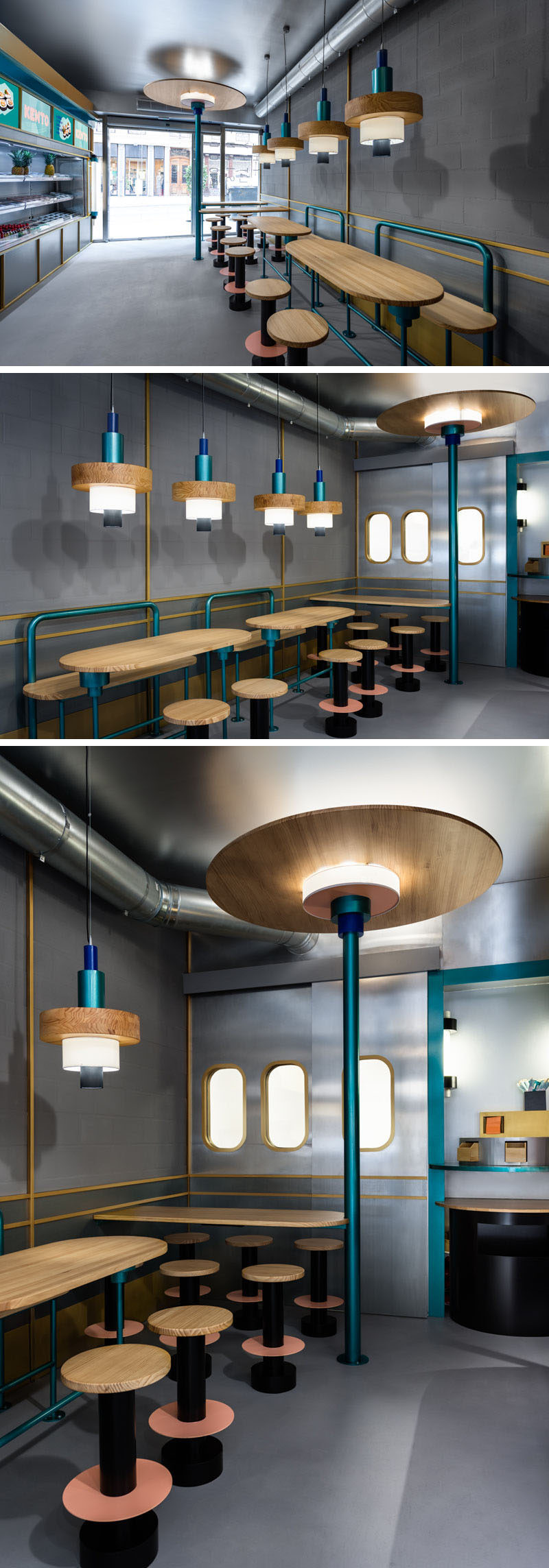 Masquespacio Have Designed The Interior Of A Takeaway Sushi Restaurant In Spain